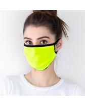 Masque de protection jaune fluo